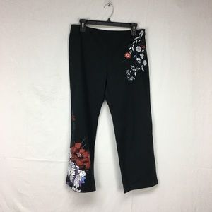 DKNY Jeans Floral Print Cropped Pants
